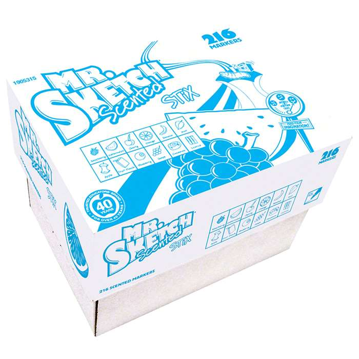 Mr Sketch Scented Stix 216Ct 12 Colors, SAN1905315