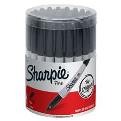 Sharpie Fine Black 36Ct Canister By Newell