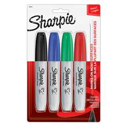 Sharpie Chisel 4 Card Asst By Newell