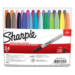 Sharpie Fine Felt Point 24 Color Set Markers By Newell