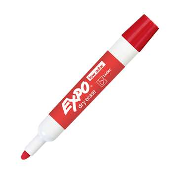 Expo Dry Erase Markers Bullet Tip Red By Newell