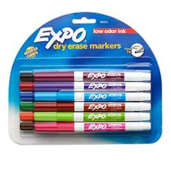 Expo Low Odor Dry Erase 12 Color Marker Set Fine Tip By Newell