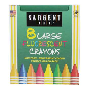 Sargent Crayons Fluorescent, Large, 8 Colors By Sargent Art
