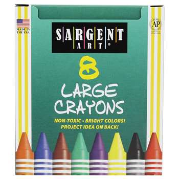 Shop Crayons Large Tuck Box 8 Ct - Sar220561 By Sargent Art