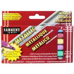 Liquid Metals Metallic 6 Ct Washable Markers By Sargent Art