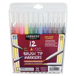 Sargent Art 12Ct Classic Brush Tip Markers, SAR221521