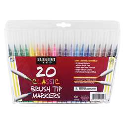 Sargent Art 20Ct Classic Brush Tip Markers, SAR221522