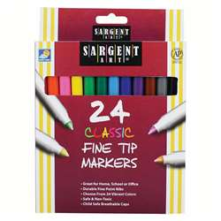 Sargent Art Classic Markers Fine Tip 24 Colors By Sargent Art