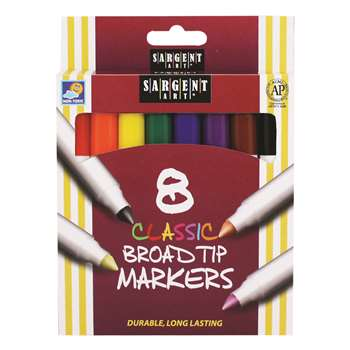 Sargent Art Classic Markers Broad Tip 8 Colors By Sargent Art