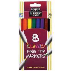 Sargent Art Classic Markers Fine Tip 8 Colors By Sargent Art