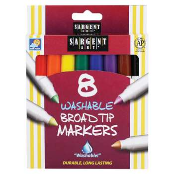 Sargent Art Washable Felt Super Tip Markers Broad Tip By Sargent Art
