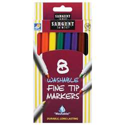 Sargent Art Washable Felt Super Tip Markers Fine Tip By Sargent Art