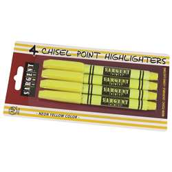 4Ct Fine Tip Yellow Highlighter, SAR221563