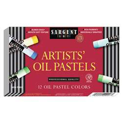 Sargent 12Ct Regular Oil Pastels By Sargent Art