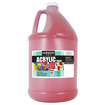 64Oz Acrylic - Red By Sargent Art