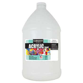 64Oz Acrylic - White By Sargent Art