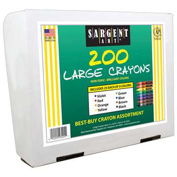 Crayon Assortment Large Size 200 By Sargent Art