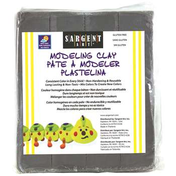 Shop Modeling Clay Plastic Gray 1 Lb Box - Sar224084 By Sargent Art