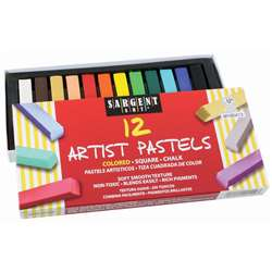 12Ct Assorted Color Artists Chalk Pastels Lift Lid Box By Sargent Art