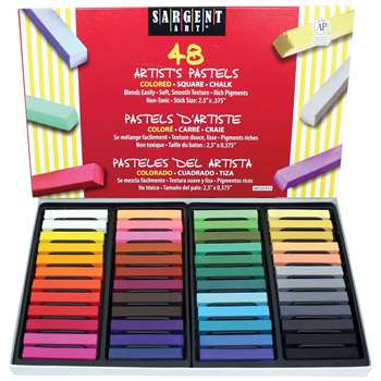 48Ct Assorted Color Artists Chalk Pastels Lift Lid Box By Sargent Art