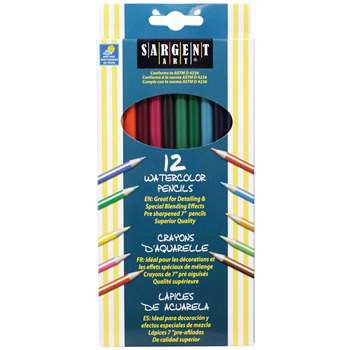 12Ct Sargent Watercolor Pencil 7 In By Sargent Art