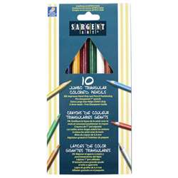 Easy Grip Triangle Colored 10-Set Pencils Pre-Sharpened By Sargent Art