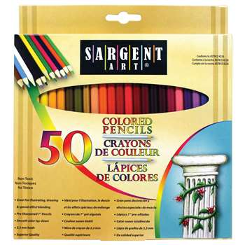 Sargent Colored Pencils, 50 Color Set By Sargent Art