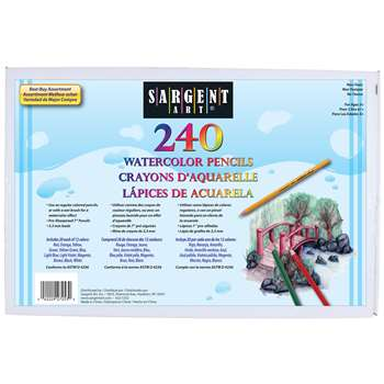 240Ct Sargent Watercolor Pencil Best Buy Assortment 7 In By Sargent Art