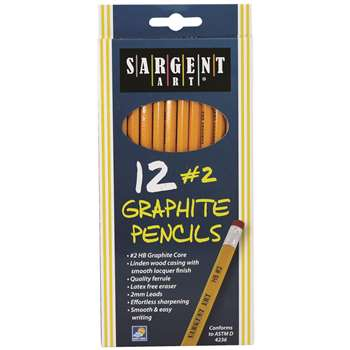 12Ct Hb Graphite Pencils Unsharpened By Sargent Art