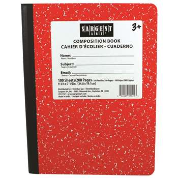 Red Composition Book 100 Sheets, SAR231521