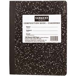 100Sht 7.5 X 9 3/4 Hard Cover Composition Notebook By Sargent Art