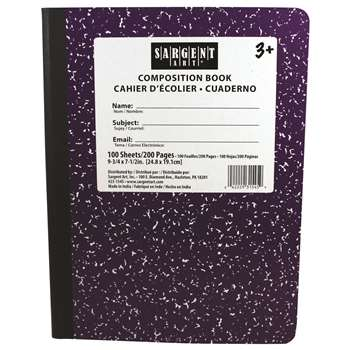 Purple Composition Book 100 Sheets, SAR231545
