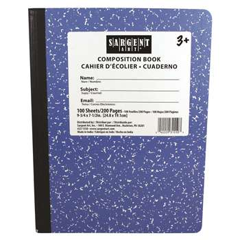 Blue Composition Book 100 Sheets, SAR231550