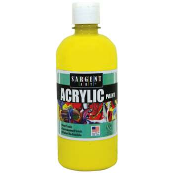 16Oz Acrylic Paint - Yellow By Sargent Art
