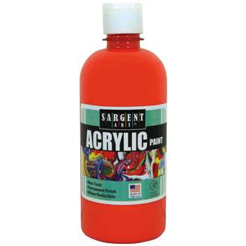16Oz Acrylic Paint - Orange By Sargent Art