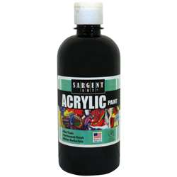 16Oz Acrylic Paint - Black By Sargent Art