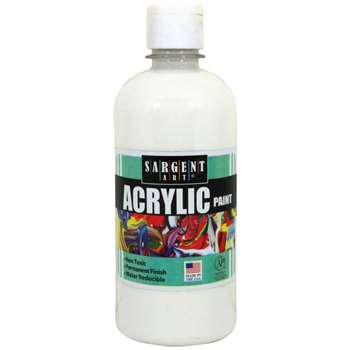 16Oz Acrylic Paint - White By Sargent Art