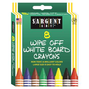 Sargent Art White Board Crayons Reg By Sargent Art