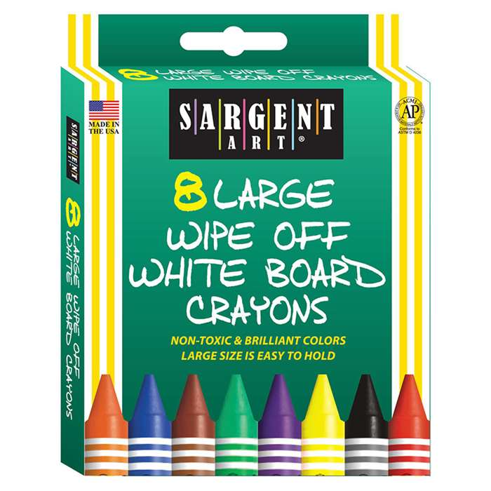 Sargent Art White Board Crayons Lrg By Sargent Art