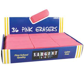 36Ct Large Pink Eraser Pack, SAR361012