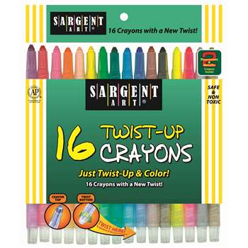16 Ct Twist Up Crayon By Sargent Art