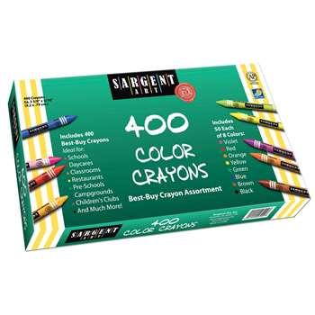 Sargent Art Best Buy Crayon Assortment 400 Standard Crayons By Sargent Art