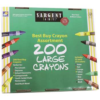 Sargent Art Large Crayons 200 Large Size By Sargent Art