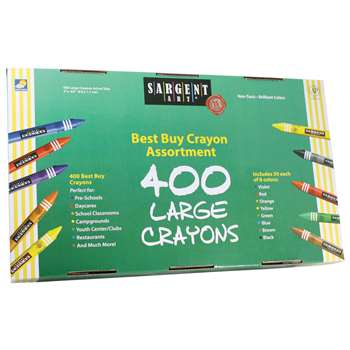 Sargent Art Best Buy Crayon Asst Lg Size 400 Ct By Sargent Art