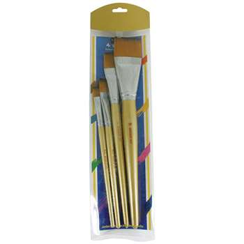 4Ct Jumbo Flat Taklon Brushes, SAR563015