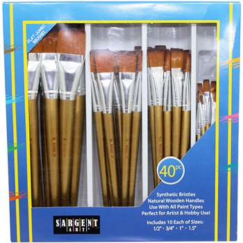 Brush Flat Jumbo Set 40Ct/Class Pack, SAR563101