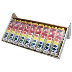 36Ct Art Time Watercolor Classpack 8 Color Sets W/ Brushes By Sargent Art