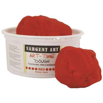 1Lb Art Time Dough - Red By Sargent Art
