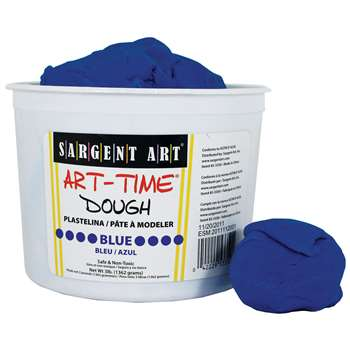 3Lb Art Time Dough - Blue By Sargent Art