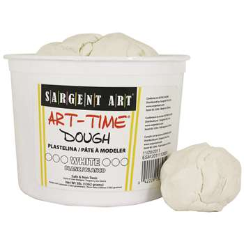 3Lb Art Time Dough - White By Sargent Art